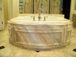 Faux Marble Tub Wood Form