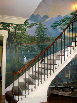 Old South Entry Mural on Stairwell