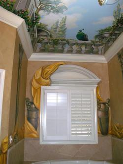 Peacock Bath Ceiling