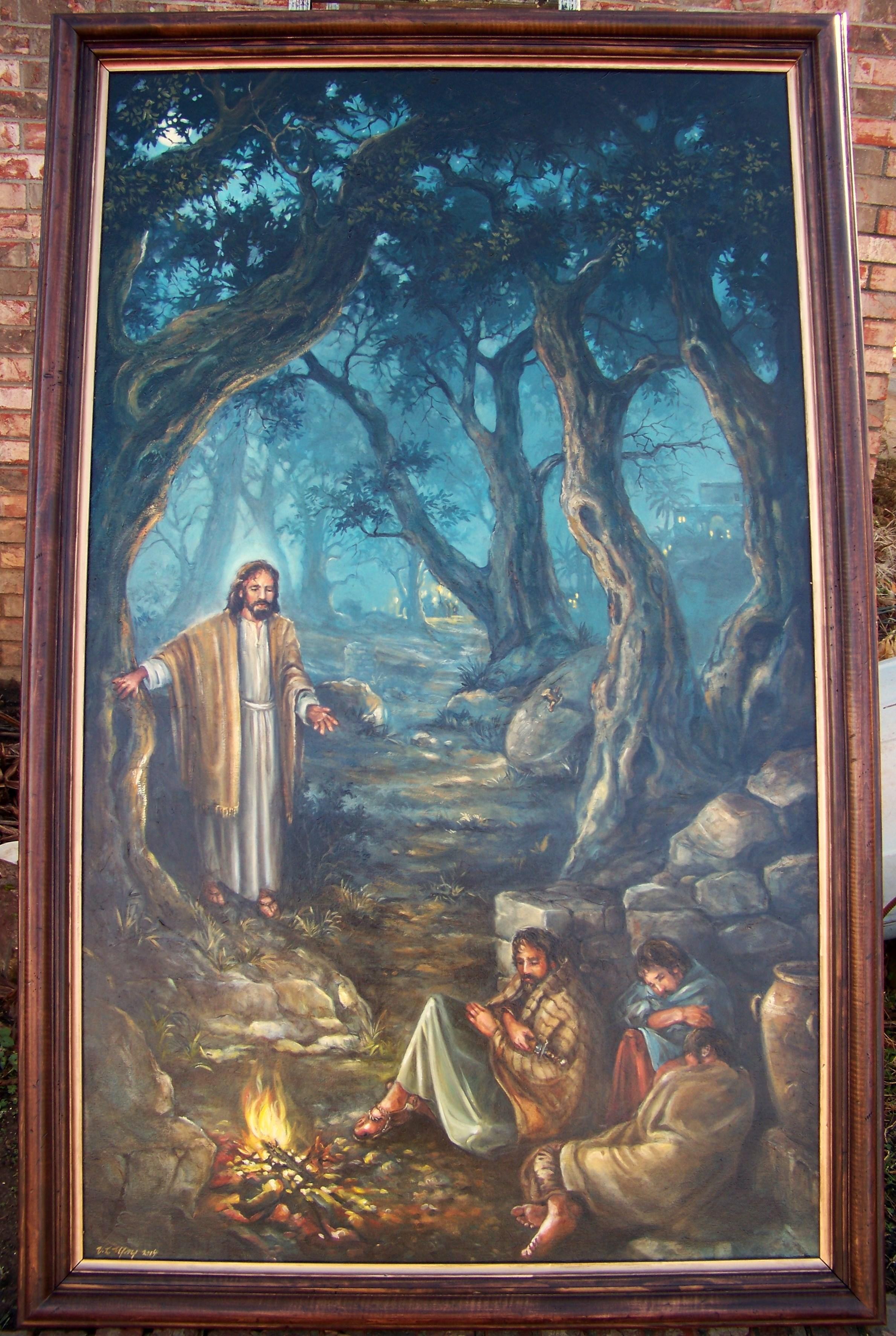 Gethsemane, Oil on Canvas 3'x5'