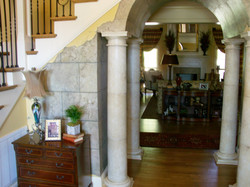 Faux Stone and Columns