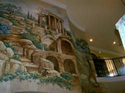 Italian Landscape Entry Stairwell