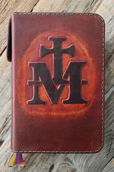 Medium Brown Marian Cross Breviary Cover