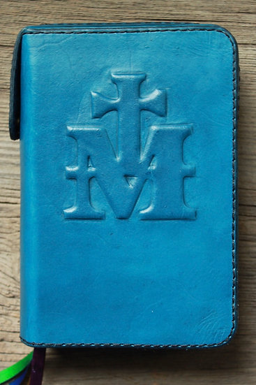 Blue Marian Cross Breviary Cover