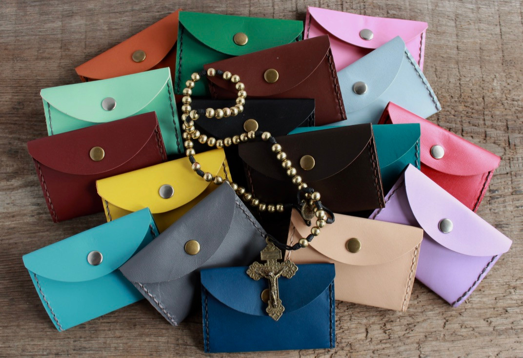 Kangaroo Leather Rosary Pouches