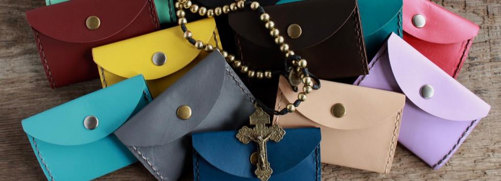 Kangaroo Leather Rosary Pouches