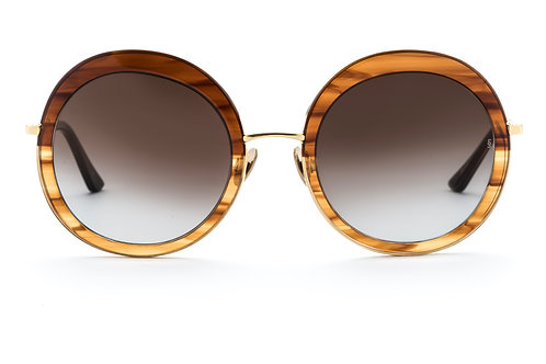 Sunday Somewhere Abella - Gloss Gradient Brown Acetate, Polished Yellow