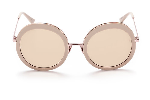 Sunday Somewhere Abella - Gloss Solid Blush Acetate, Polished Pink Gold Metal