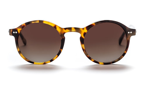 Sunday Somewhere Alila - Gloss Marble Demi With Gradient Dark Brown Lens