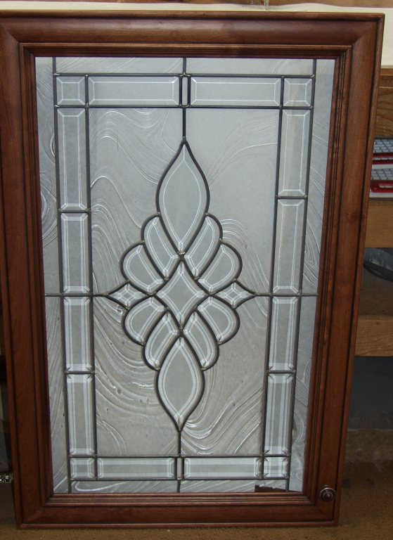 Beveled Glass Cabinets