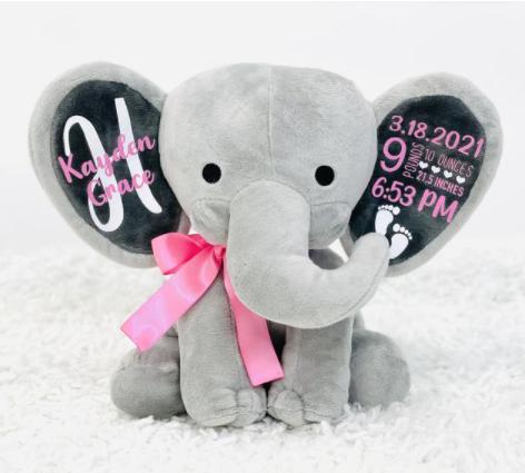 Elephant Birthday Announcement