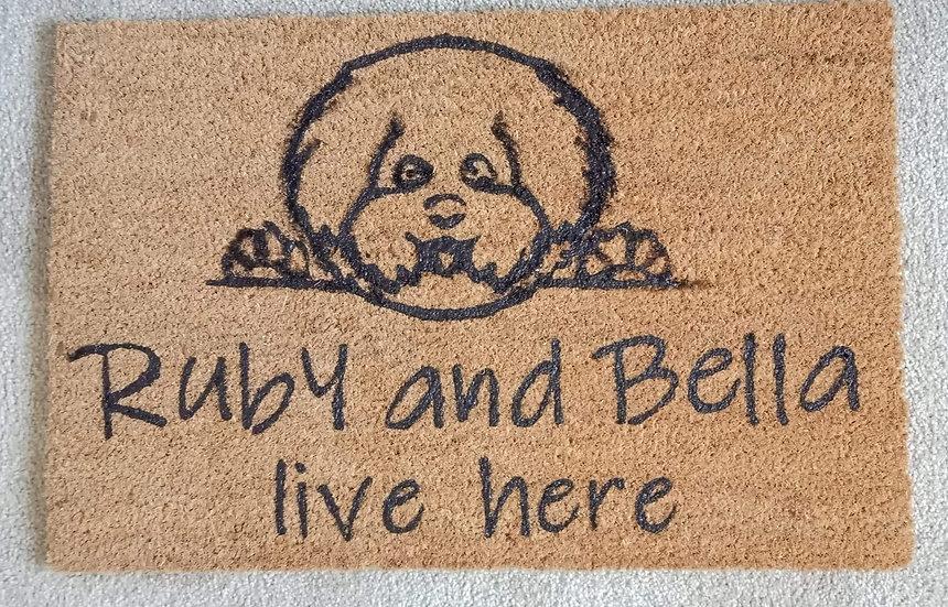 Live Here Door mat