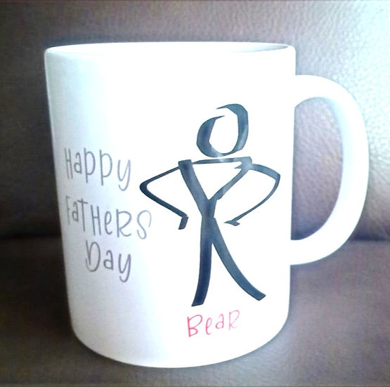Personalised Fathers Day Mugs with Stick Man Image