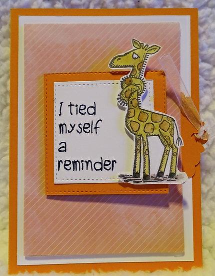 Giraffe Belated Birthday Card