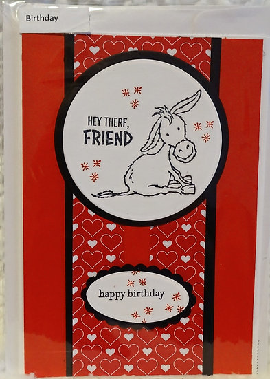 Donkey Happy Birthday Card