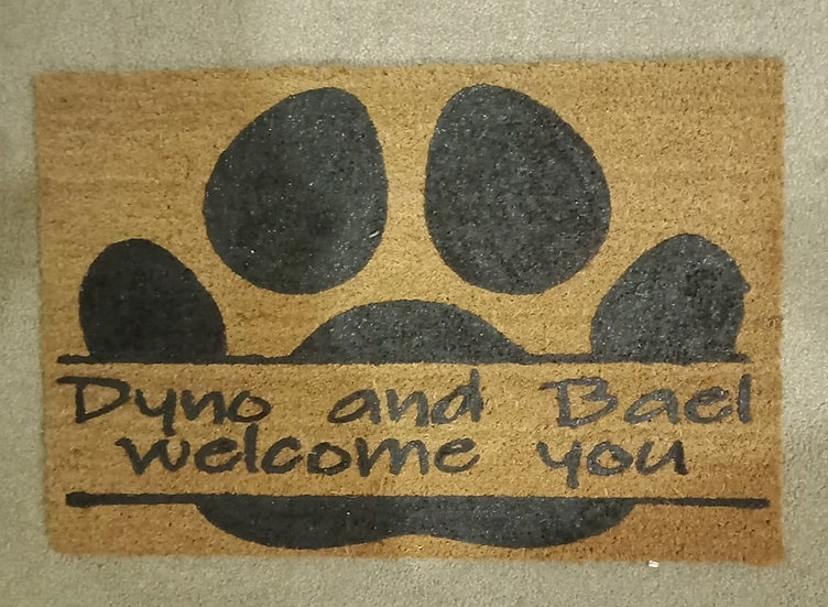 Dog Paw Welcome Mat