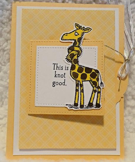 Giraffe Get Well Card