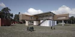 Lanigan Architects - Kaloorup Shipping Container Home - concept design - outdoor deck