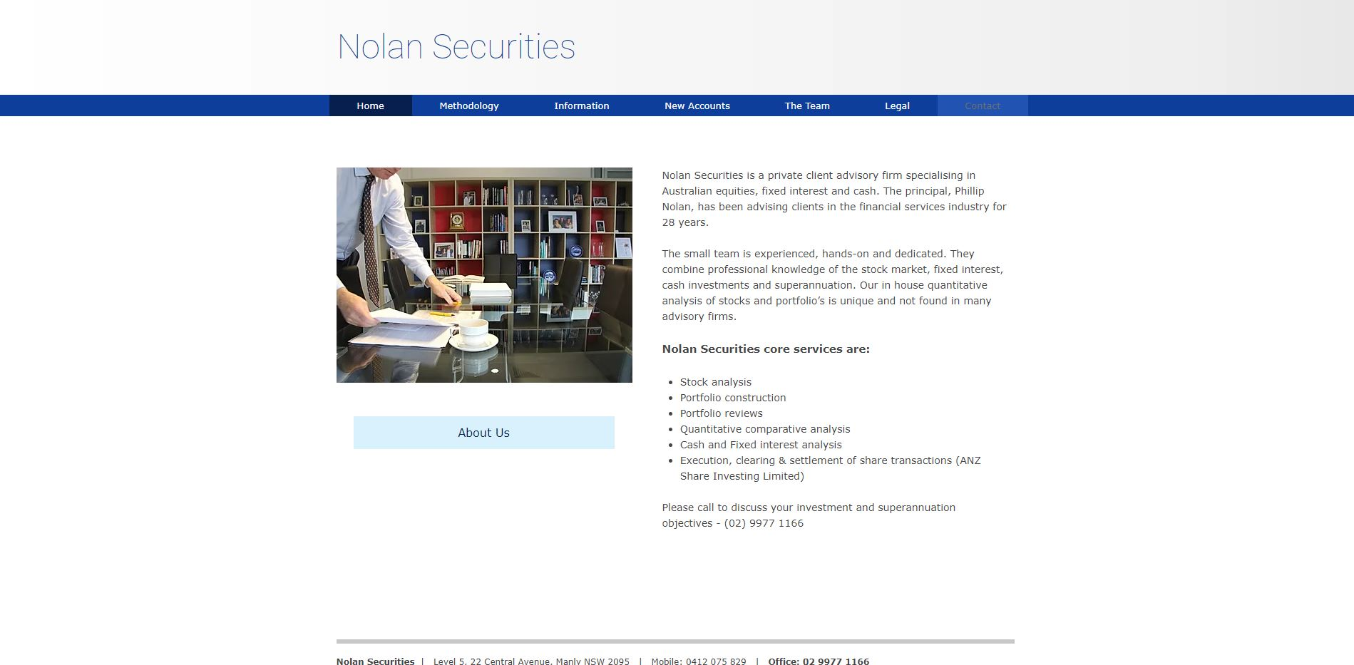 Professional Securities website