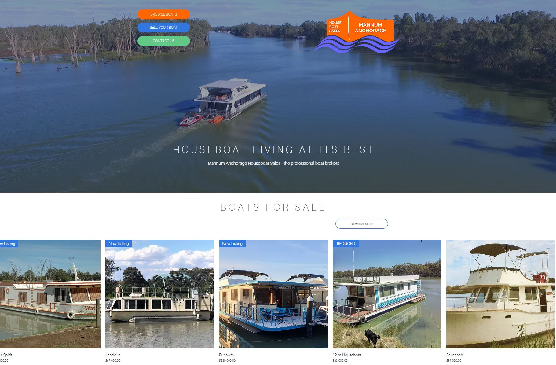 Mannum Anchorage | Houseboats for sale