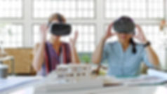 2 young women view a home in Virtual Reality by ViewThru