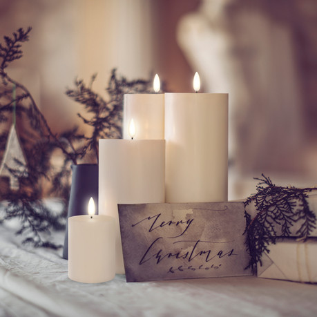 Christmas Candles  in table