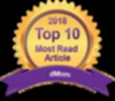 divorced moms badge - top 10 most read articles