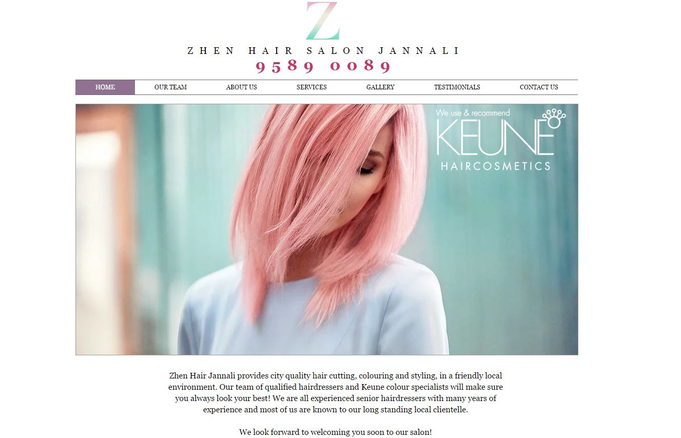 Hairdressing website