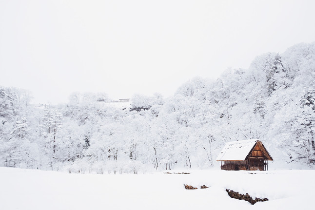 House with snow - Nordic White