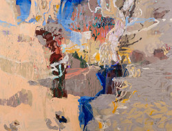 Morning Blues (Wilcannia), 2020, oil on
