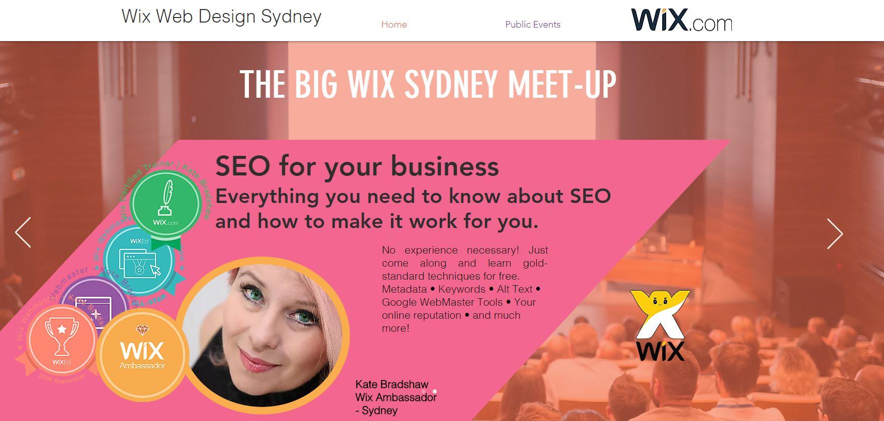 Wix Ambassador Sydney
