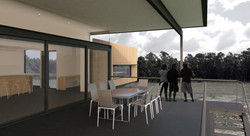 Lanigan Architects - Kaloorup Shipping Container Home - concept design - outdoor deck view