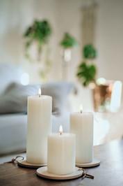 Classic Ivory Pillar Candles