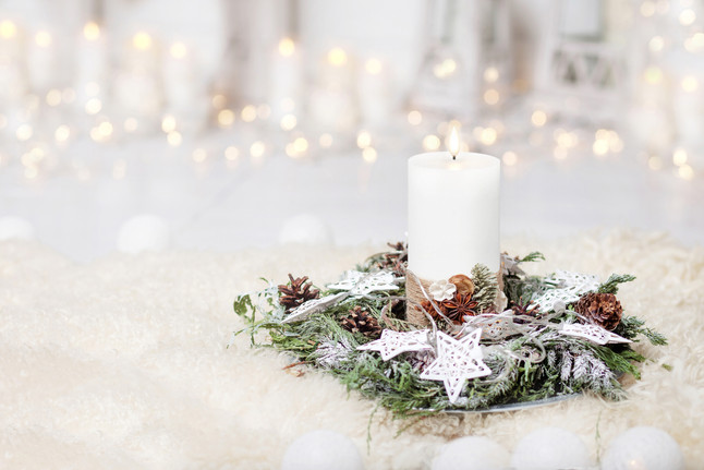 Nordic White Candle