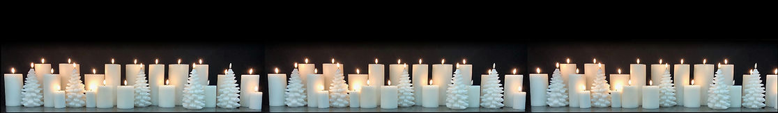 Small Flameless Candles footer strip