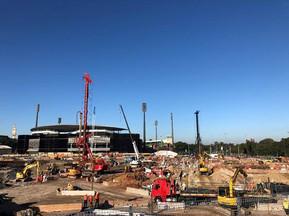 Works Underway at new Sydney Football Stadium