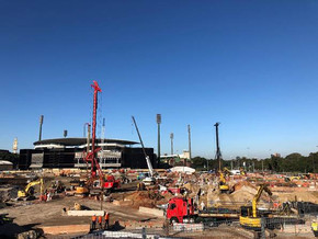 Works Underway at new Sydney Football Stadium