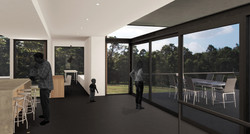 Lanigan Architects - Kaloorup Shipping Container Home - concept design - living room