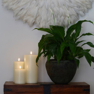 3 Classic Ivory Candles