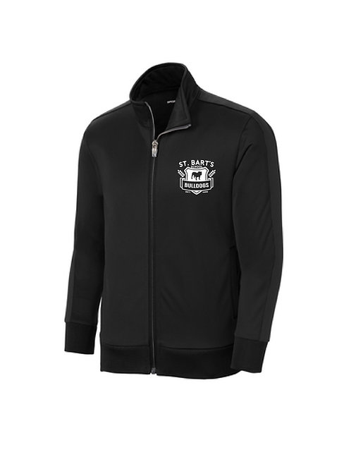 Sport-Tek ® Tricot Track Jacket - Black on Black