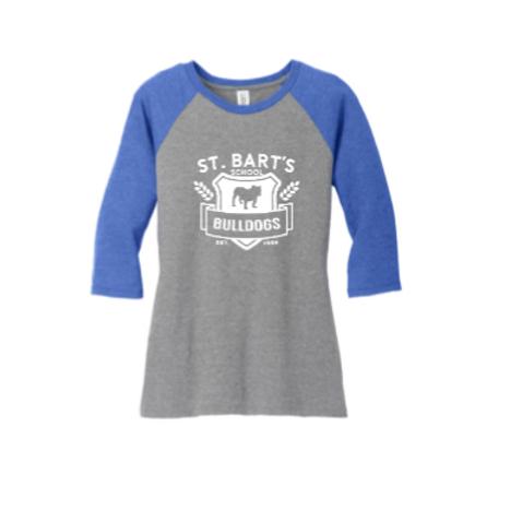 Adult - District ® Women's Perfect Tri ® 3/4-Sleeve Raglan