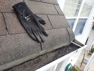 """<img src=""""roof.png"""" alt=""""glove on roof showing clean gutters"""">"""