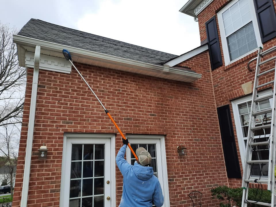 """<img src=""""roofcleaning.gif"""" alt=""""Cleaning a Bear Delaware roof with soft pressure washing"""">"""