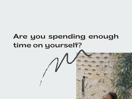 Are You Spending Enough Time on You