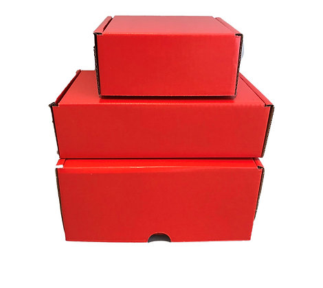 Small Red Cardboard Boxes