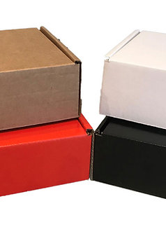 Small Cardboard Packing Boxes - Pack of 10 - Various Colours