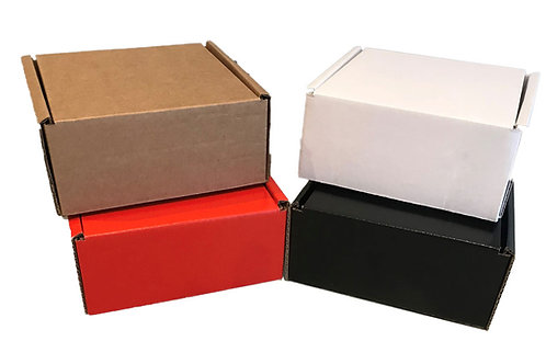 Small Single Wall Die Cut Boxes – Pack of 50 – Various Colours