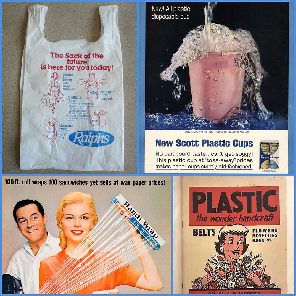 Vintage plastic advertising posters