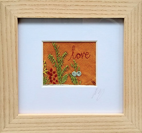 Embroidered Small 'Love' Frame