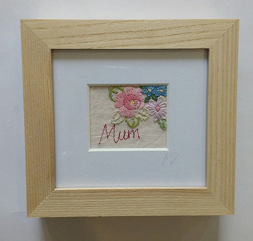 Embroidered Small 'Mum' Frame